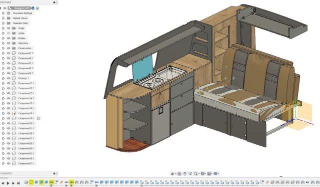 Our new T6 Long Wheel Base design is almost finished. We'll be making the first customer order next week 😀  #campervankitchen #campervanconversion #vwkitchen #diycamper